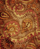 Classical wallpaper with paisley pattern — Stock Photo