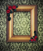 Vintage frame with decorative flower in corners — Photo