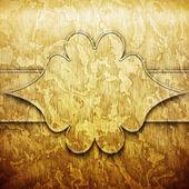 Piastra di metallo oro con ornamento — Foto Stock