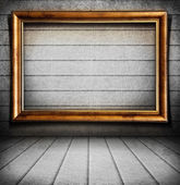 Empty frame on wall — Stock Photo
