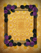 Frame with decorative flower in corners — Stock Photo