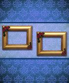 Elegant frame on antique wallpaper — Stock Photo