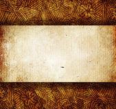 Knäckt papper med ornament — Stockfoto