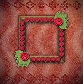 Decorative frame with flowers and leafs — Stock Photo