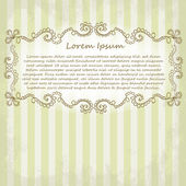 Ornate vector frame. Vintage design for Valentine's Day — Stockfoto