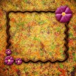 Stock Photo: Grunge frame with flower