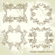 Set of ornate vector frames — Stock Photo