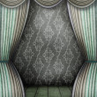 Old style room with curtains — Stock Photo