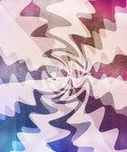 サイケデリック光線とビンテージ背景 — ストック写真