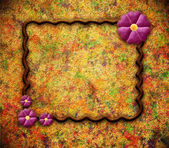 Grunge frame with flower — Stock Photo