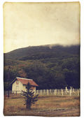 Vintage landscape - photo card — Stock Photo