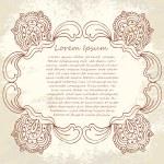 Ornate vector frame (beige vintage greetings) — Stock Vector #34143663