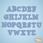 Jeans alphabet design — Stock Vector #34144881