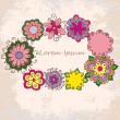 Floral vector frame  — Stock Vector