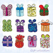 Stock Vector: Gift collection