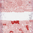 Vintage valentine background — Vettoriali Stock