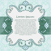 Ornate vector frame. Vintage design — Stock Vector