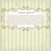 Ornate vector frame. Vintage design for Valentine's Day — Vettoriale Stock