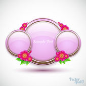 Glass sphere with flower bouquet — Stock Vector