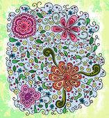 Bouquet floral abstrait — Vecteur