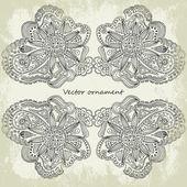 Ornate vector frame (beige vintage greetings) — 图库矢量图片