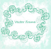 Ornate vector frame (beige vintage greetings) — Vector de stock