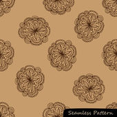 Stylish floral vector pattern (seamless background) — Stock Vector