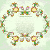 Floral vector frame — Stock Vector