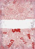 Vintage valentine background — Stock Vector