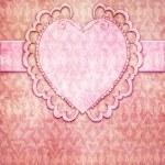 Vintage valentine's day design (invitation template) — Stock Photo