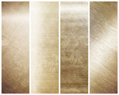 Iron plate - collection of gold textures — Stock Photo