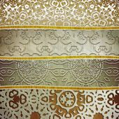 Iron plate with ornament — Stock Photo