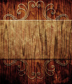 Transparent plate on wooden planks — Stock Photo