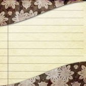 Empty paper sheet and cover with ornament — Stock Photo