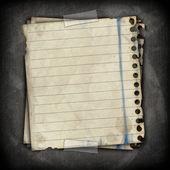 Empty paper sheet stick on blackboard with scotch tape — Stock Photo
