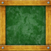 Green Empty Blackboard with Wooden Frame — Стоковое фото