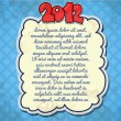 Vintage New Year background template — Stock Vector