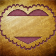 Valentine's day gold frame with hearts — Stock Photo #38766079