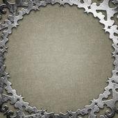Silver ornamental plate — Stock Photo
