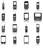 Mobile phones — Vector de stock