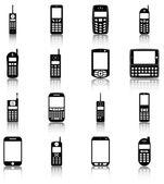 Teléfonos móviles — Vector de stock