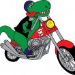 T-Rex on a motorcycle — Stock Vector #13881112