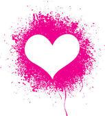 Sprayed heart — Stock Vector