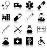 Iconos de medico — Vector de stock