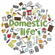 Domestic life — Stock Vector #21765201
