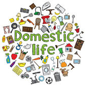 Domestic life — Stock Vector