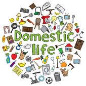 Domestic life — Stock Vector
