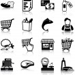 Grocery icons — Stock Vector