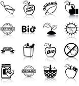Organic icons — Stock Vector