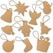 Christmas tags — Stock Vector